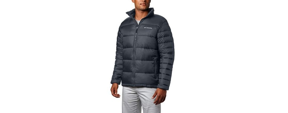columbia men's frost fighter insulated winter jacket - graphite