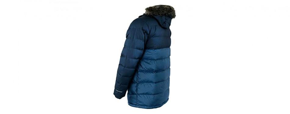 columbia men's northridge lodge 700 fill down hooded omni heat winter puffer winter jacket
