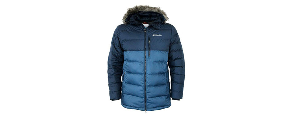 columbia men's northridge lodge 700 fill down hooded omni heat winter puffer winter jacket