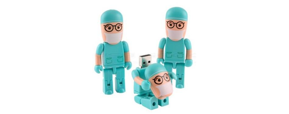 comtop 32gb usb drives cartoon doctor robot