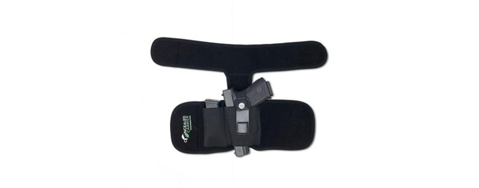 concealed carrier (tm) ankle holster for concealed carry pistol
