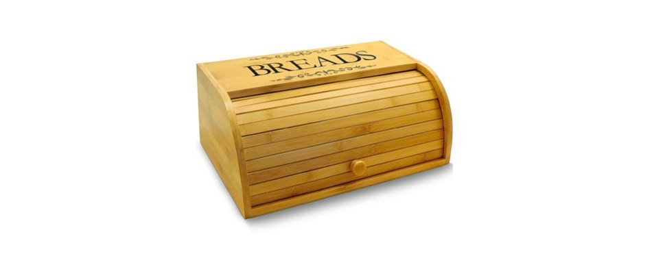 cookbook people original rolltop bread box