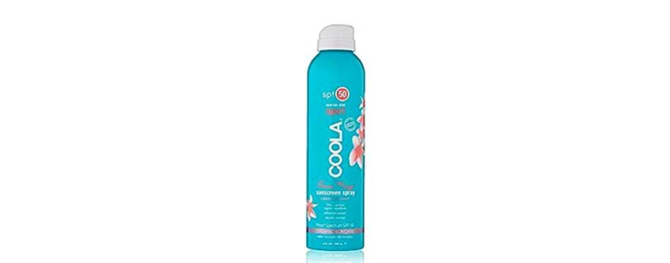 coola eco-lux spf 50 sunscreen spray