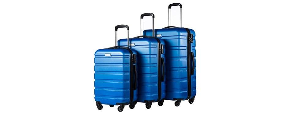 coolife luggage 3 piece set suitcase