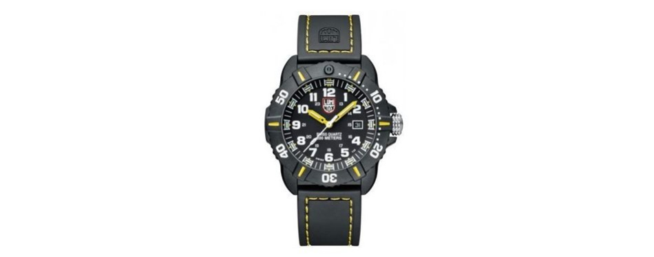 coronado black and yellow watch
