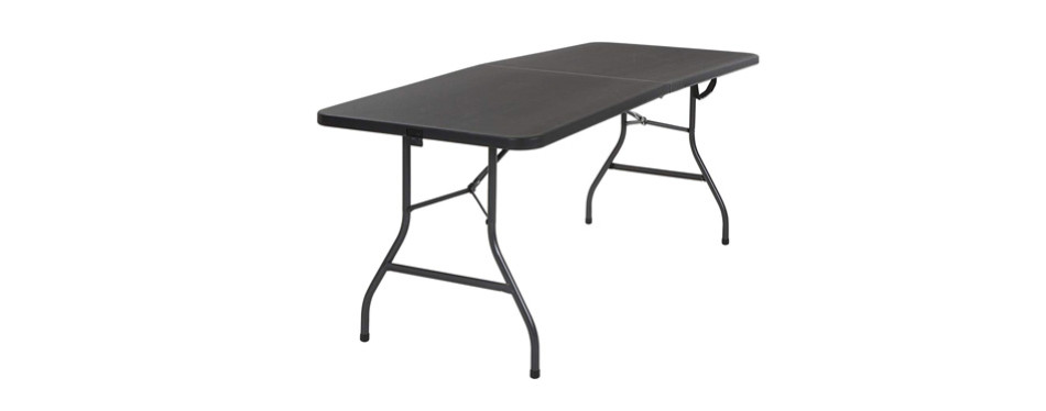 cosco 14678blk1 deluxe folding table