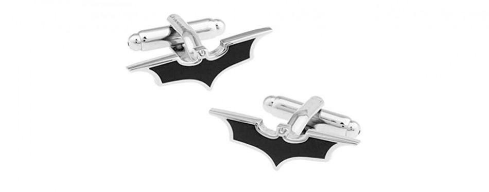 covink black batman mark metal cufflinks