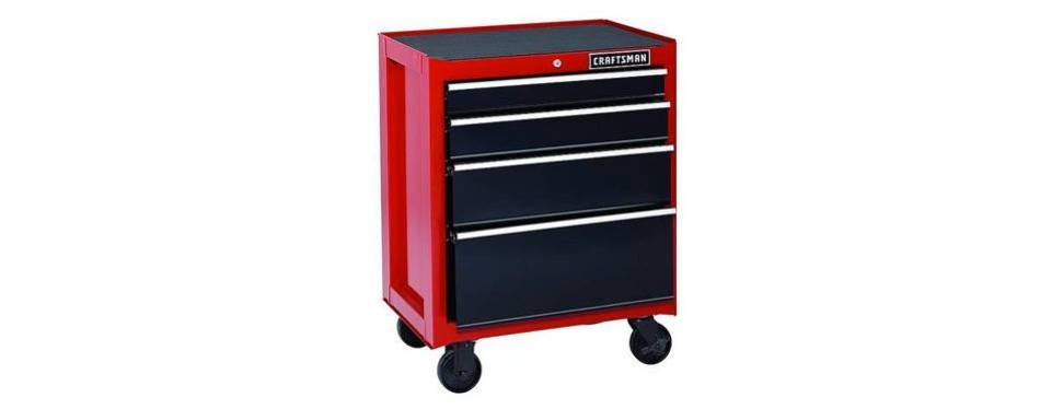 craftsman 26-inch 4-drawer rolling cabinet