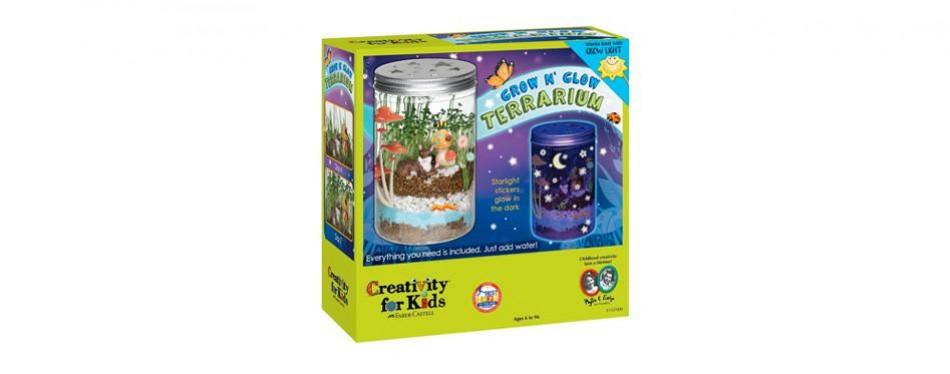creativity for kids – grow n' glow terrarium