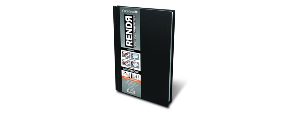 crescent creative products 5.5 8.5-inch rendr hardbound sketchbook
