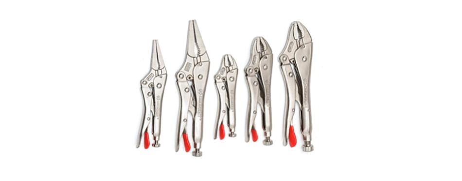 crescent tools 5 piece locking plier set