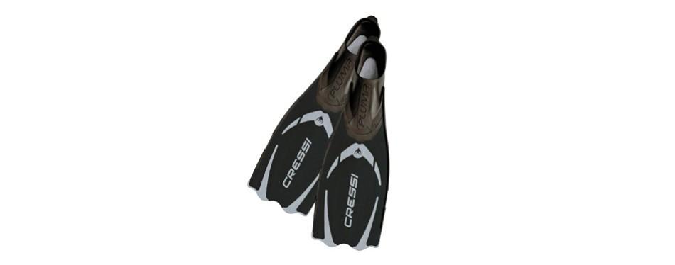cressi pluma adult snorkeling full foot pocket fins