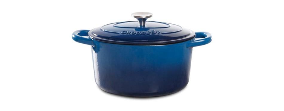 crock pot 69145.02 artisan 7 quart enameled round dutch oven