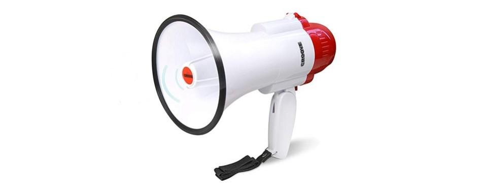 croove megaphone bullhorn with siren