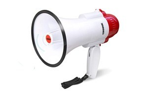 croove megaphone bullhorn with siren