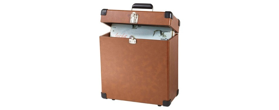 crosley cr401-ta record carrier case for 30+ albums