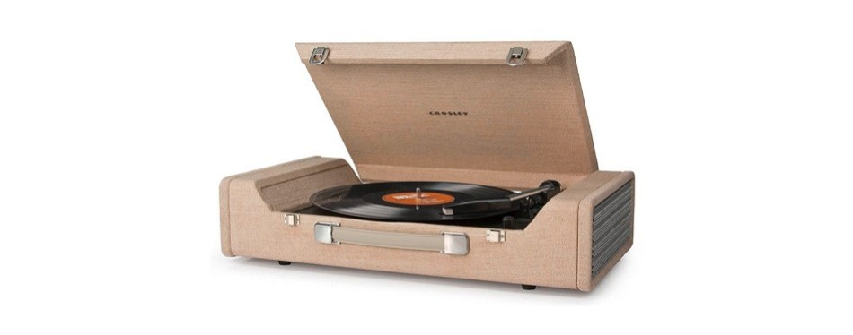 crosley cr6232a-br portable usb turntable