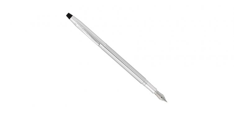 Cross Classic Century Lustrous Chrome Fountain Pen with Fine Nib