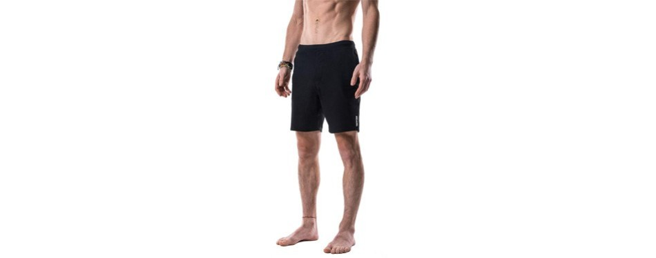 crow swerve men's yoga shorts odor-resistant inner liner
