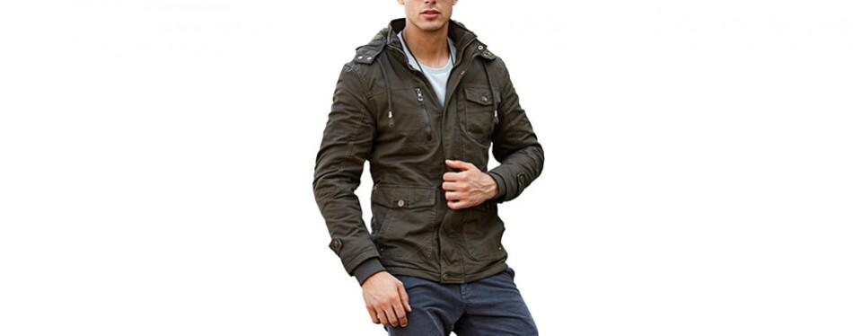 crysully men's slim fit multi-pocket coat