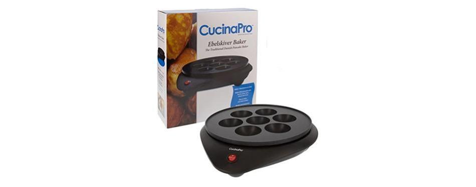 cucinapro doughnut maker &ebelskiver pan baker