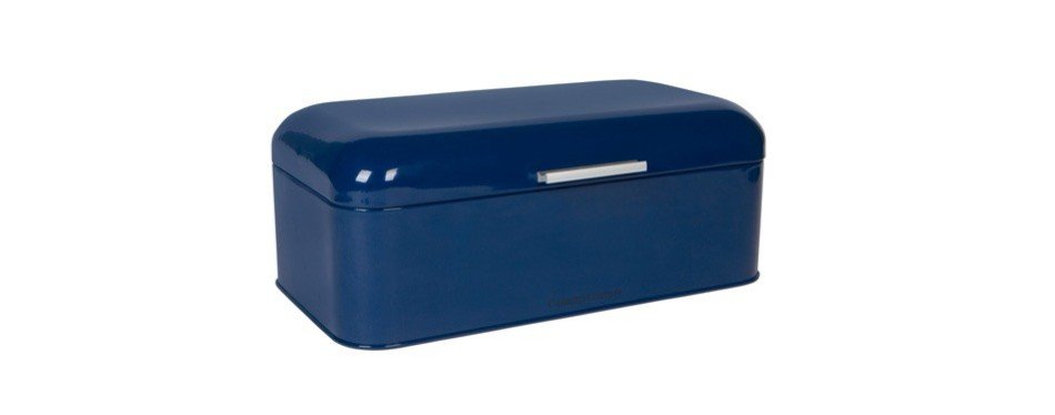 culinary couture large blue bread box