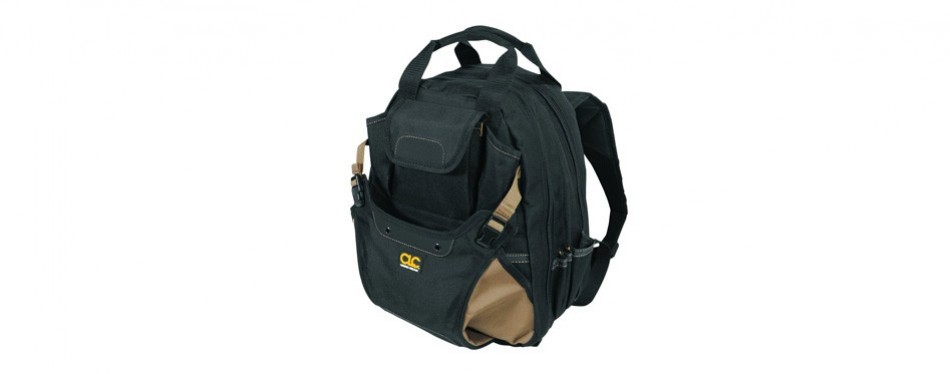 custom leathercraft clc 1134 carpenter's tool backpack