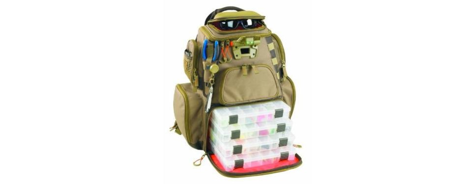 custom leathercraft wild river by clc wt3604 tackle tek nomad lighted backpack with four pt3600 trays