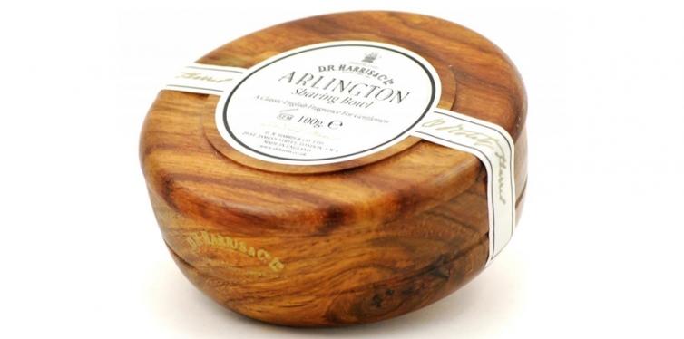 D.R.Harris & Co Arlington Mahogany Shaving Bowl & Shaving Soap