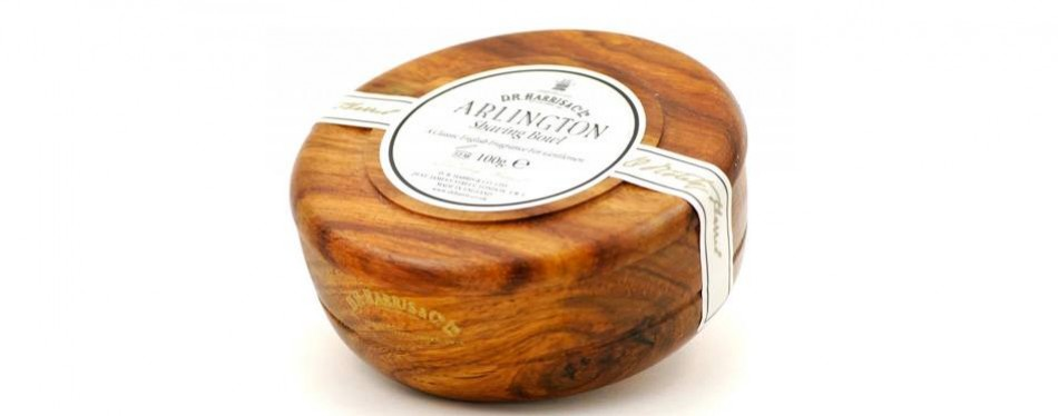 d.r.harris & co arlington mahogany shaving bowl & shaving soap