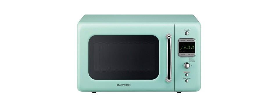 daewoo kor-7lrem retro countertop microwave oven