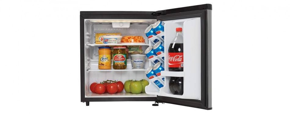 danby dar017a3bsldb contemporary mini fridge
