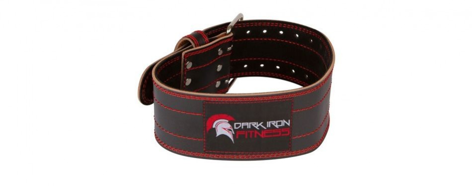 dark iron fitness genuine leather weightlifting belt