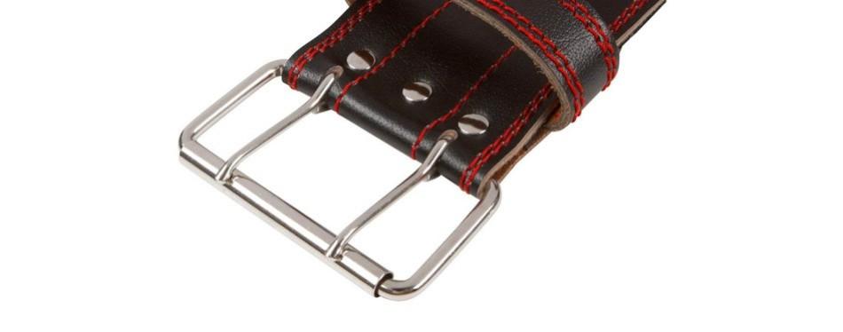 dark iron fitness genuine leather weightlifting belt