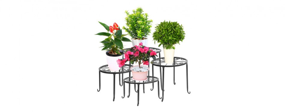 dazone metal 4 in 1 potted plant floor stand