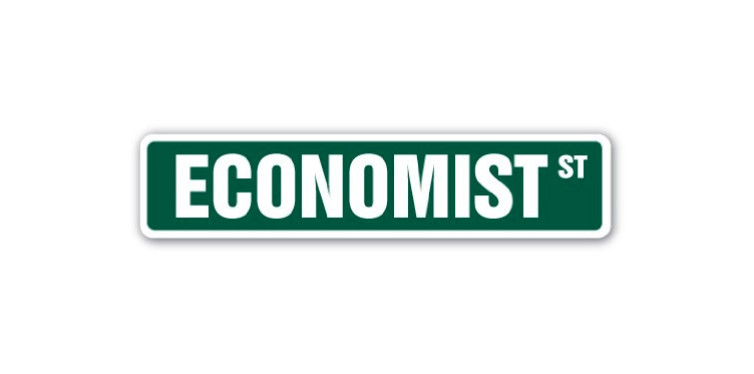 decorative economist street sign