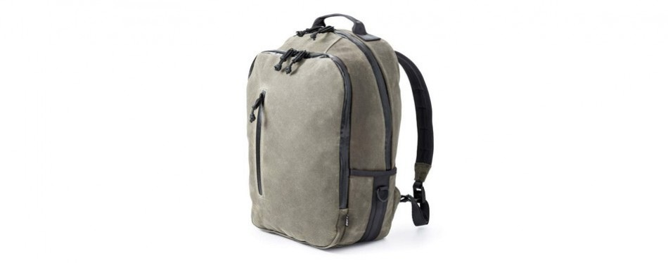 defy bucktown waxed canvas american made backpack