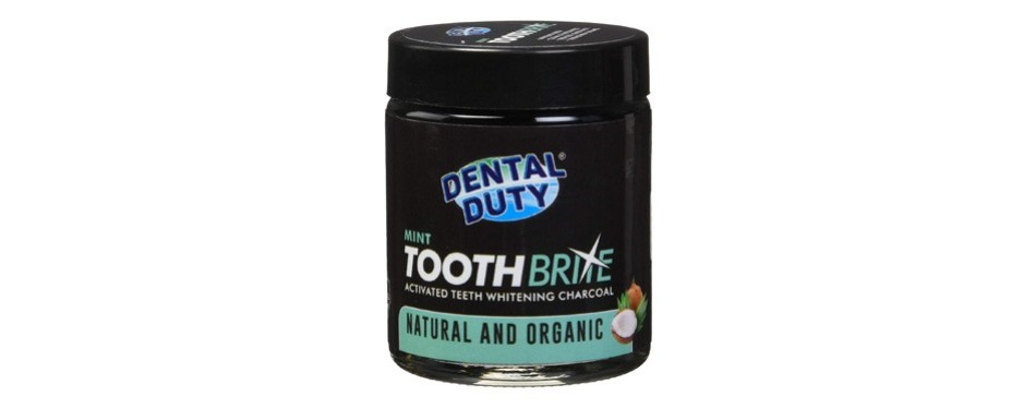 dental duty toothbrite activated coconut charcoal teeth whitening kit