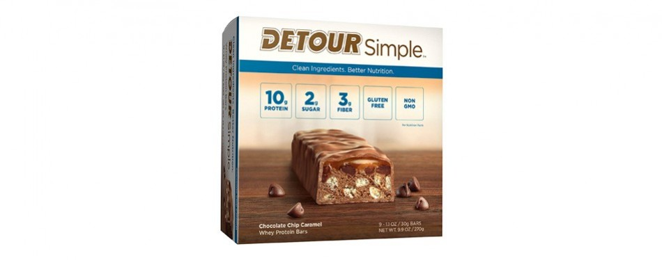 detour simple whey protein bar