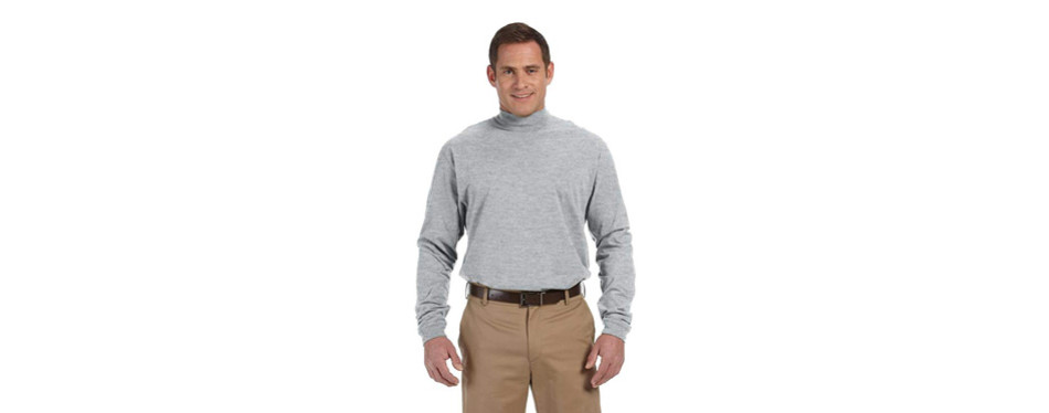 devon & jones men's sueded turtleneck