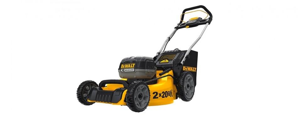dewalt 2 x 20 volt battery cordless lawn mower