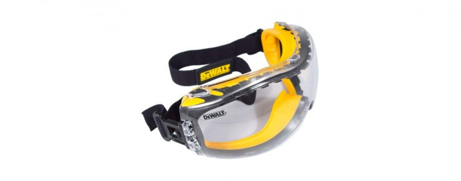 dewalt concealer clear anti-fog dual mode safety goggle