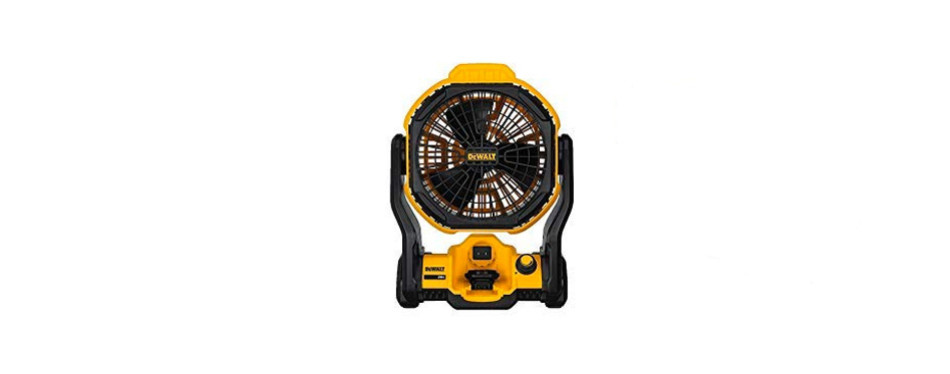 dewalt cordless jobsite fan with 20v battery pack