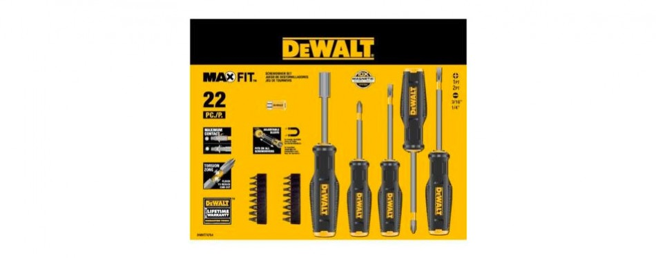 dewalt maxfit screwdriver set