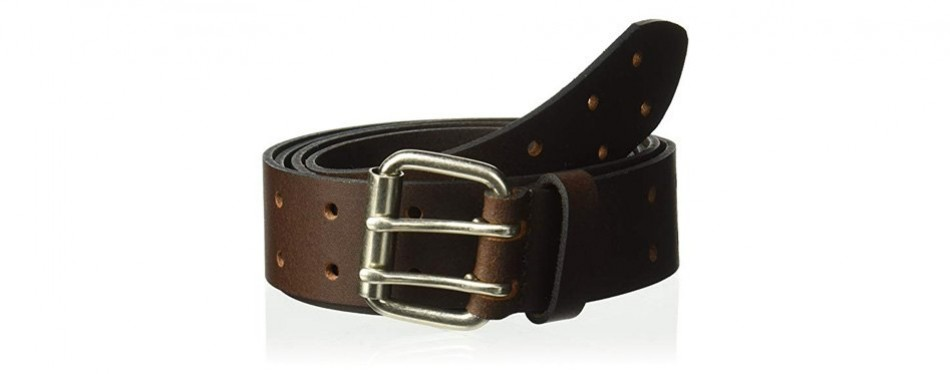 dickies double prong leather belt