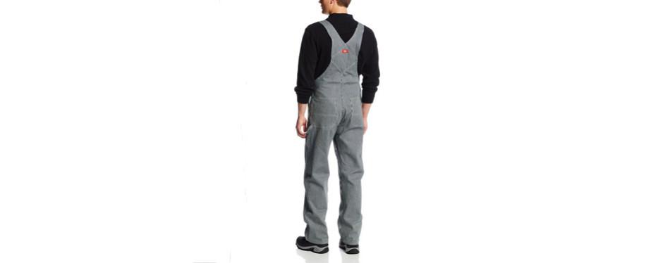 dickies men's hickory stripe bib overall