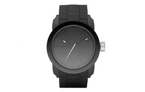 diesel men's double down silicone watch
