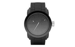 diesel men's double down silicone watch