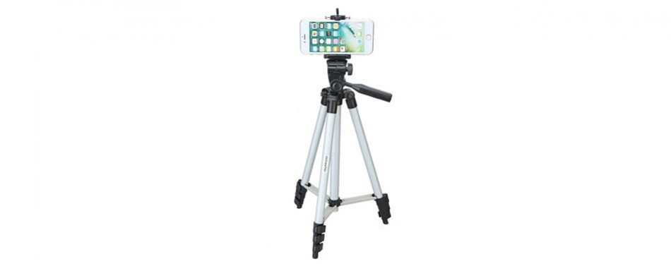 "digiant's 50"" aluminum mobile phone tripod"