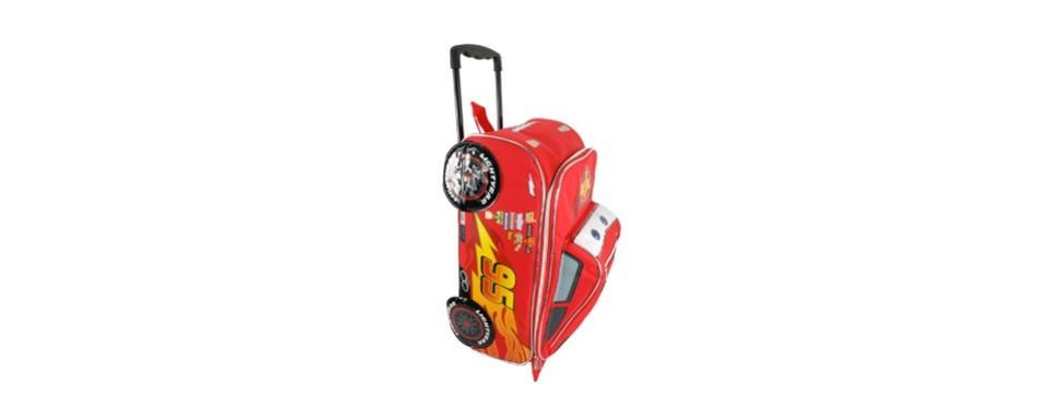 disney pixar cars rolling lightening mcqueen luggage